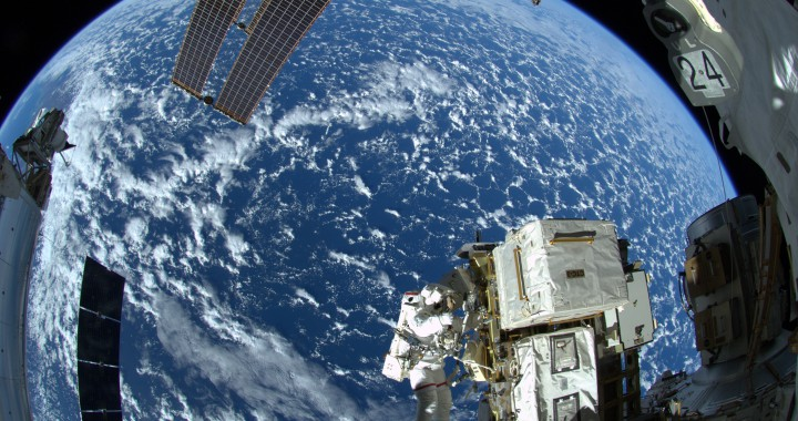 EVA 27 am 7. Oktober 2014 mit Reid Wiseman und Alexander Gerst Bildquelle: NASA/ESA/Alexander Gerst