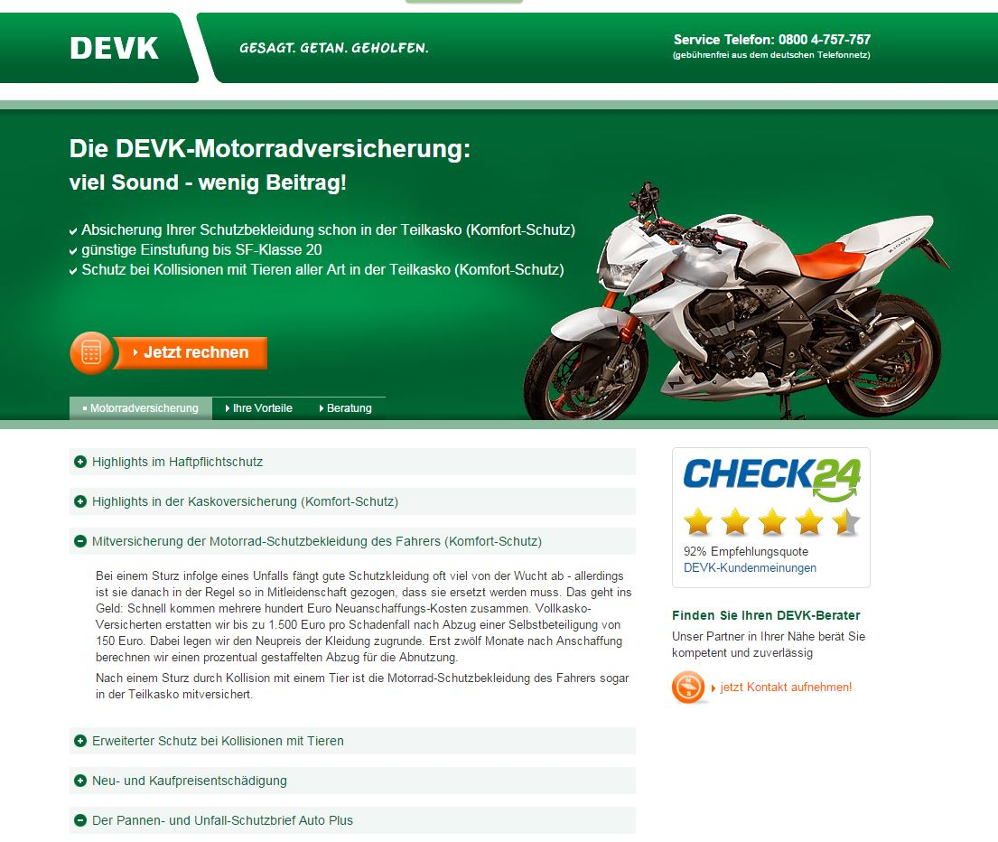 Zum Thema Neue Konditionen Bei Der Motorrad Haftpflichtversicherung