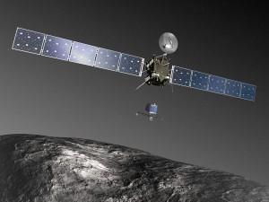 Philae landet auf einem Kometen